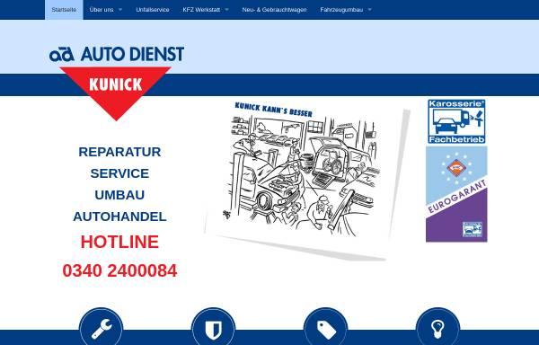 Vorschau von www.ad-kunick.de, Auto-Dienst Kunick