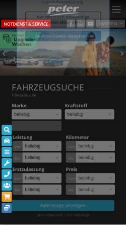 Vorschau der mobilen Webseite www.autohauspeter.de, Beresa Autozentrum Anhalt GmbH