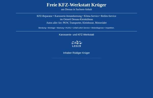 Vorschau von www.krueger-kfz.de, Fa. Krüger