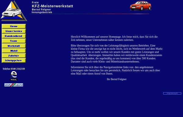 Vorschau von www.auto-felgner.de, Freie Kfz Werkstatt Bernd Felgner