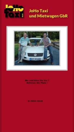 Vorschau der mobilen Webseite www.joho-taxi-dessau.de, JoHo Taxi und Mietwagen GbR
