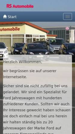 Vorschau der mobilen Webseite www.rs-autohandel.de, RS Automobile, Inh. Rene Schlusche