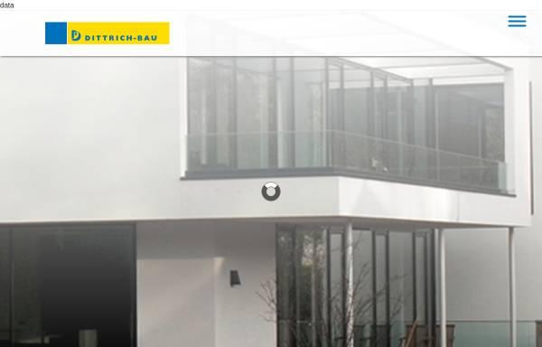 Vorschau von www.dittrichbau.de, Dittrich-Bau GmbH