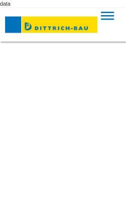 Vorschau der mobilen Webseite www.dittrichbau.de, Dittrich-Bau GmbH