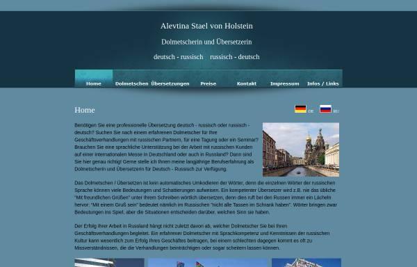 Vorschau von www.von-holstein.de, Alevtina Baronin Stael von Holstein