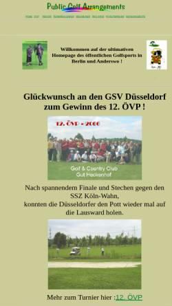 Vorschau der mobilen Webseite www.go-4-golf.de, Public Golf Arrangements