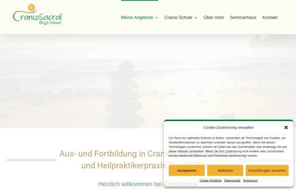 Vorschau von cranio-sacral.de, Birgit Hilbert - Praxis für Cranio-Sacrale Körper- und Energiearbeit.