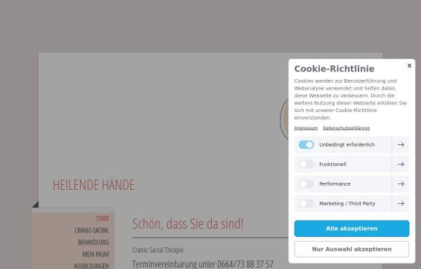 Vorschau von www.claudia-hoeller.at, Cranio Sacral Omnipathie