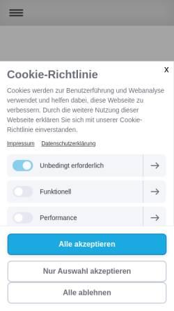 Vorschau der mobilen Webseite www.claudia-hoeller.at, Cranio Sacral Omnipathie