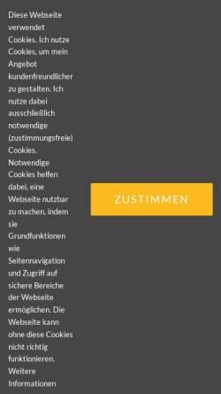 Vorschau der mobilen Webseite www.cranio-rebalancing.de, Praxis für integrative Körpertherapie