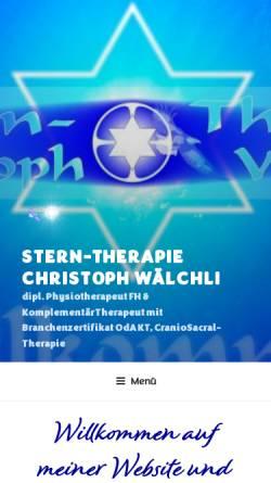 Vorschau der mobilen Webseite sterntherapie.ch, Stern-Therapie Christoph Wälchli