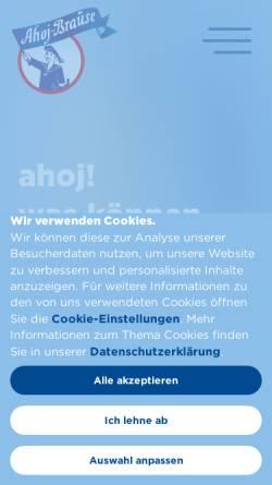 Vorschau der mobilen Webseite www.ahoj-brause.de, Frigeo Vertriebsgesellschaft mbH