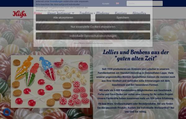 Vorschau von www.kuefa-bonbons.de, KÜFA Lolly & Bonbon Werk
