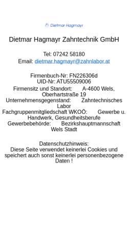 Vorschau der mobilen Webseite www.zahnlabor.at, Zahnlabor.at