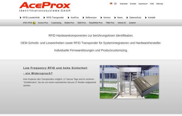 Vorschau von www.aceprox.de, Aceprox Identifikations GmbH