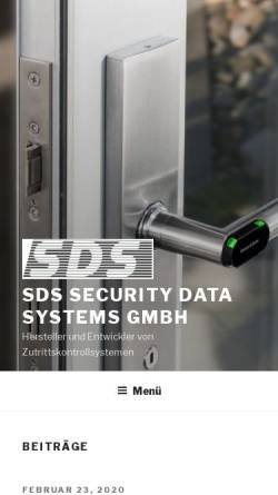 Vorschau der mobilen Webseite www.securitydatasystems.com, SDS Security Data Systems GmbH