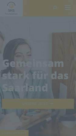 Vorschau der mobilen Webseite www.shsfoundation.de, SHS Foundation Saarländer helfen Saarländern