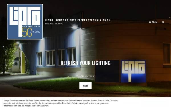 Vorschau von www.lipro-online.at, Lipro Lichtprojekte Elektrotechnik GmbH