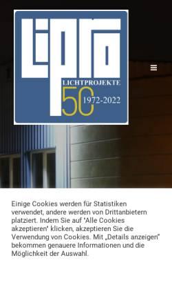 Vorschau der mobilen Webseite www.lipro-online.at, Lipro Lichtprojekte Elektrotechnik GmbH
