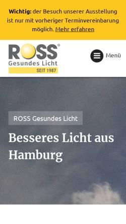Vorschau der mobilen Webseite www.ross-licht.de, Ross Gesundes Licht, Manfred Ross
