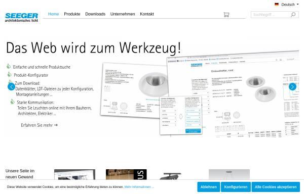 Vorschau von www.seeger-licht.de, Seeger technische Leuchten, Inh. Thomas Seeger