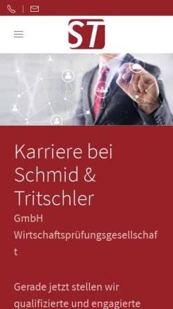 Vorschau der mobilen Webseite www.schnur-schmid.de, Schnur & Schmid - Wirtschaftsprüfer und Steuerberater