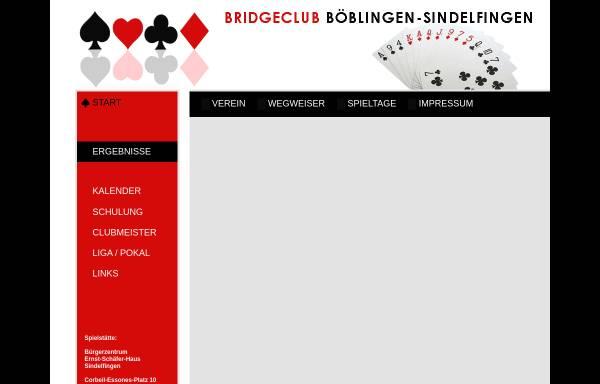 Vorschau von www.bridgeclub-boeblingen-sindelfingen.de, Bridgeclub Böblingen/Sindelfingen