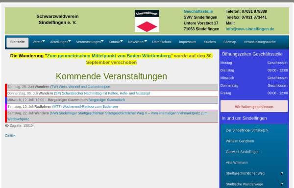 Vorschau von www.swv-sindelfingen.de, Schwarzwaldverein Sindelfingen