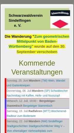 Vorschau der mobilen Webseite www.swv-sindelfingen.de, Schwarzwaldverein Sindelfingen