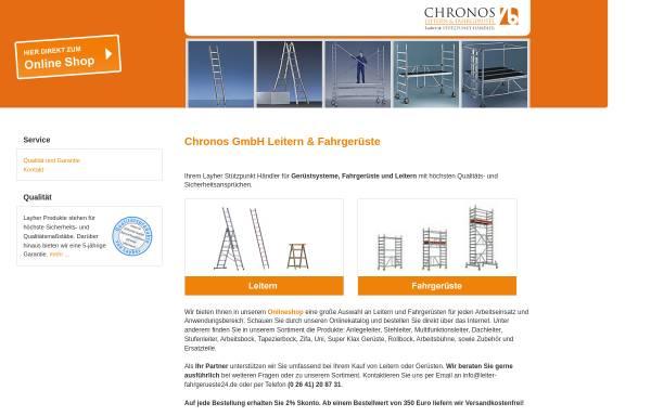 Vorschau von www.leiter-fahrgerueste24.de, Chronos GmbH