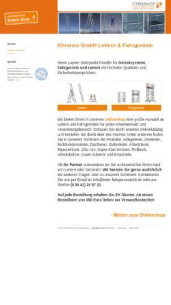 Vorschau der mobilen Webseite www.leiter-fahrgerueste24.de, Chronos GmbH