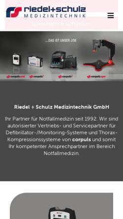 Vorschau der mobilen Webseite www.riedel-schulz.de, Jan Riedel & Jörn Schulz