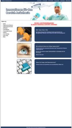 Vorschau der mobilen Webseite www.anaesthesieprodukte.com, MIC GmbH