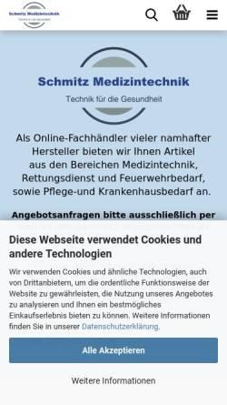 Vorschau der mobilen Webseite www.schmitz-medizintechnik.de, Schmitz Medizintechnik, Inh. Tina Schmitz