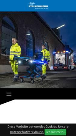Vorschau der mobilen Webseite www.stollenwerk-koeln.de, Stollenwerk u. Cie. GmbH