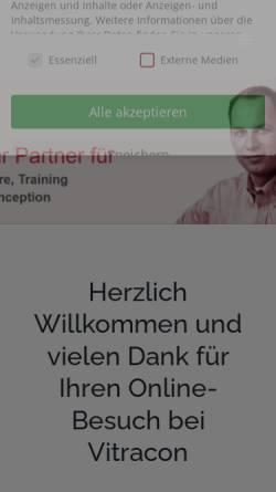 Vorschau der mobilen Webseite www.vitracon.de, Vitracon, Inh. Jochen Korn