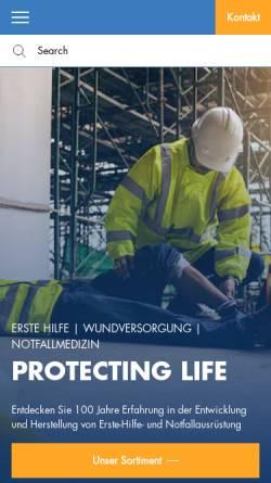 Vorschau der mobilen Webseite www.soehngen.de, W. Söhngen GmbH - Erste Hilfe und Notfallmedizin
