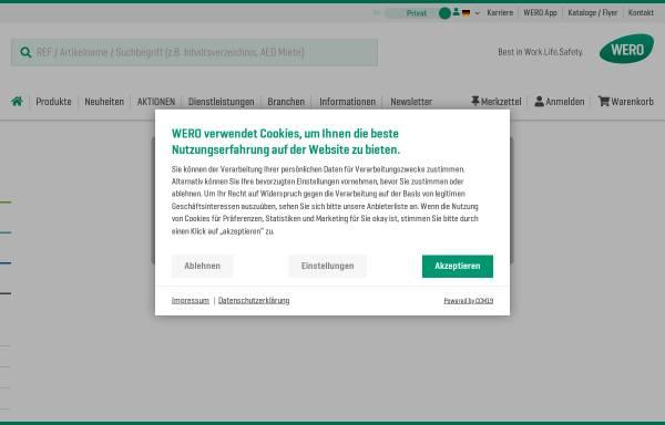 Vorschau von www.wero.de, WERO GmbH & Co. KG