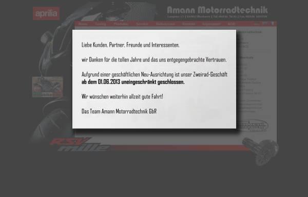 Vorschau von www.rsvmille.de, RSV Mille Tuning von Motorrad Amann