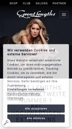 Vorschau der mobilen Webseite www.greatlengths.de, Greatlengths