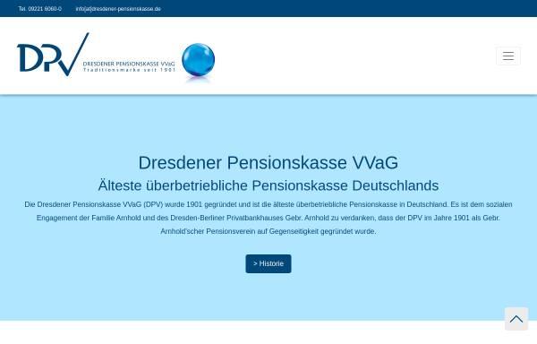 Vorschau von dresdener-pensionskasse.de, Dresdener Pensionskasse VVaG