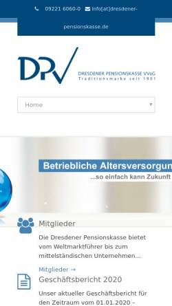 Vorschau der mobilen Webseite dresdener-pensionskasse.de, Dresdener Pensionskasse VVaG
