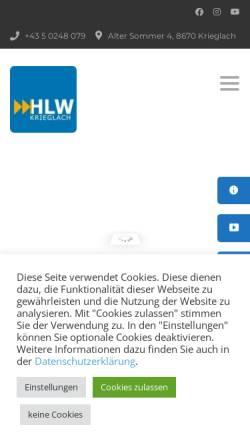 Vorschau der mobilen Webseite www.hlwkrieglach.at, HBLA Krieglach
