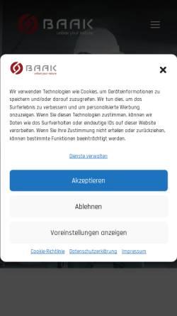Vorschau der mobilen Webseite www.baak.de, Baak GmbH