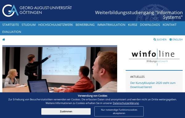 Vorschau von www.winfoline.uni-goettingen.de, Bildungsnetzwerk Winfoline