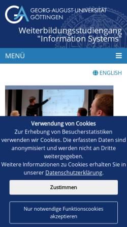 Vorschau der mobilen Webseite www.winfoline.uni-goettingen.de, Bildungsnetzwerk Winfoline