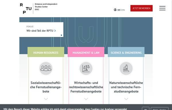 Vorschau von www.zfuw.uni-kl.de, Universität Kaiserslautern - Zentrum für Fernstudien und Universitäre Weiterbildung (ZFUW)
