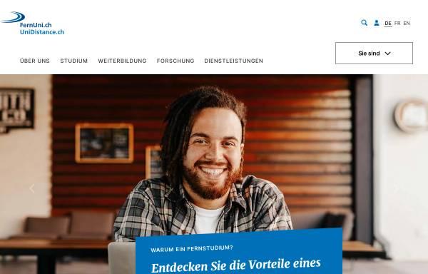 Vorschau von www.fernuni.ch, Fernstudien Schweiz