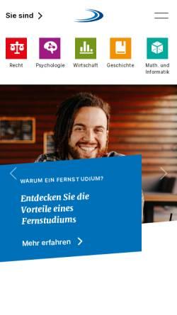 Vorschau der mobilen Webseite www.fernuni.ch, Fernstudien Schweiz