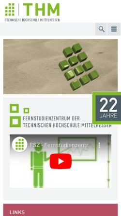 Vorschau der mobilen Webseite www.fsz-friedberg.de, FH Gießen-Friedberg